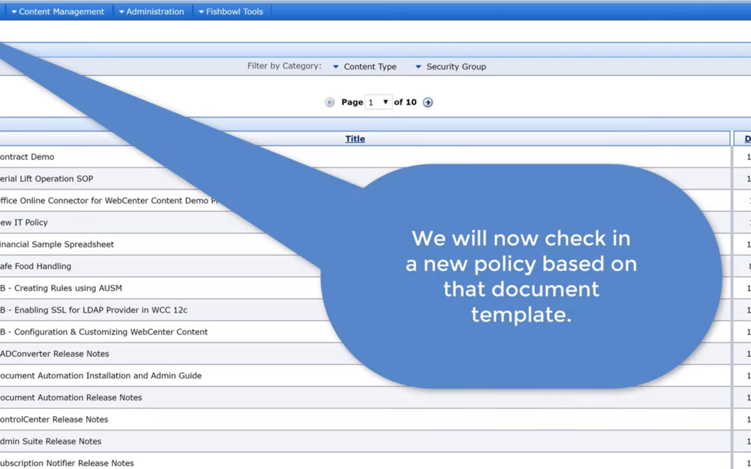 Create, Copy, and Collaborate on Office Documents with Fishbowl's Office Online Server Connector for WebCenter Content
