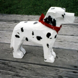 Dalmatian Wood carved and painted