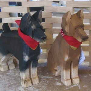 Doberman Wood Folk Art