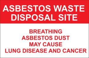 asbestos waste disposal site sign