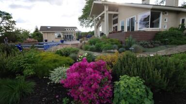 Landscaping for custom home in Eugene, Oregon