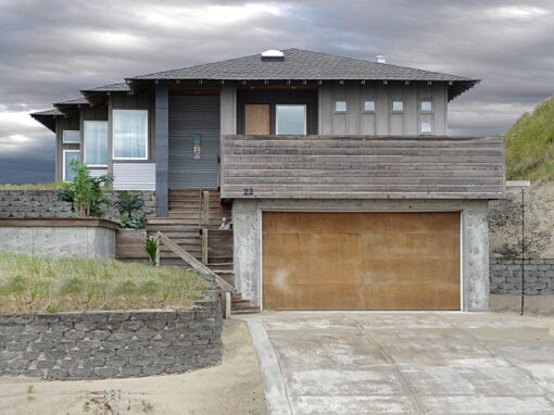 Exterior renovation for a home on the Oregon coast