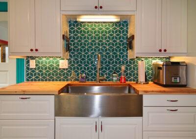 Kraus Sink / IKEA Faucet / Fireclay Tiles