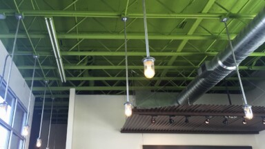 Photo of the ceiling before the remodel