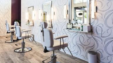 Interior remodel for a salon
