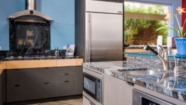 Kitchen build for new home construction in Eugene, Oregon