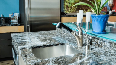 Modern kitchen design and build with granite counters