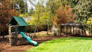 Exterior remodel play structure