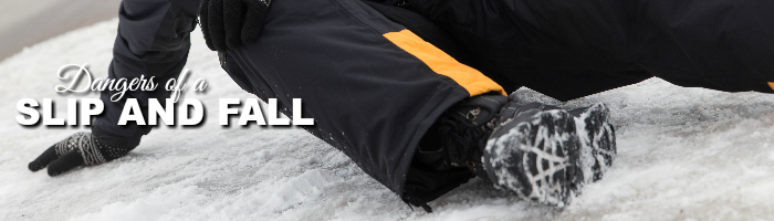 dangers of a slip and fall on ice
