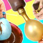 COMO HACER HUEVOS DE PASCUA DE CHOCOLATE CON GLOBOS SIN MOLDE''