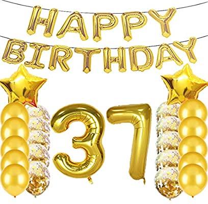 Decoración con el número de cumpleaños2