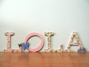 Diseño de decoración con letras