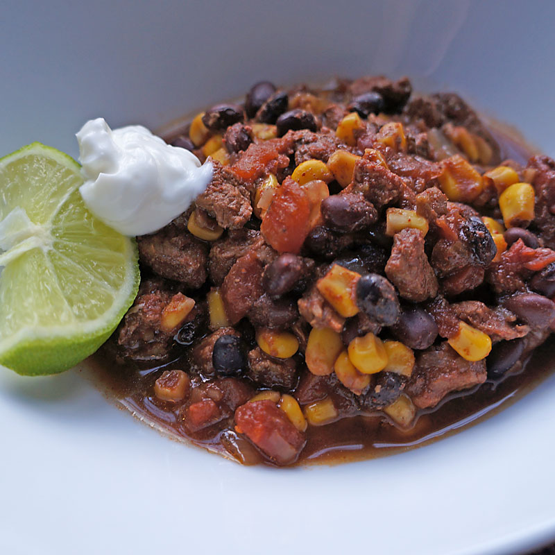 Slow Cooked Taco Chili