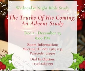 Advent Bible Study Details