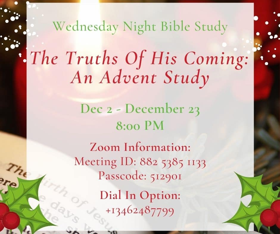 Advent Bible Study Details