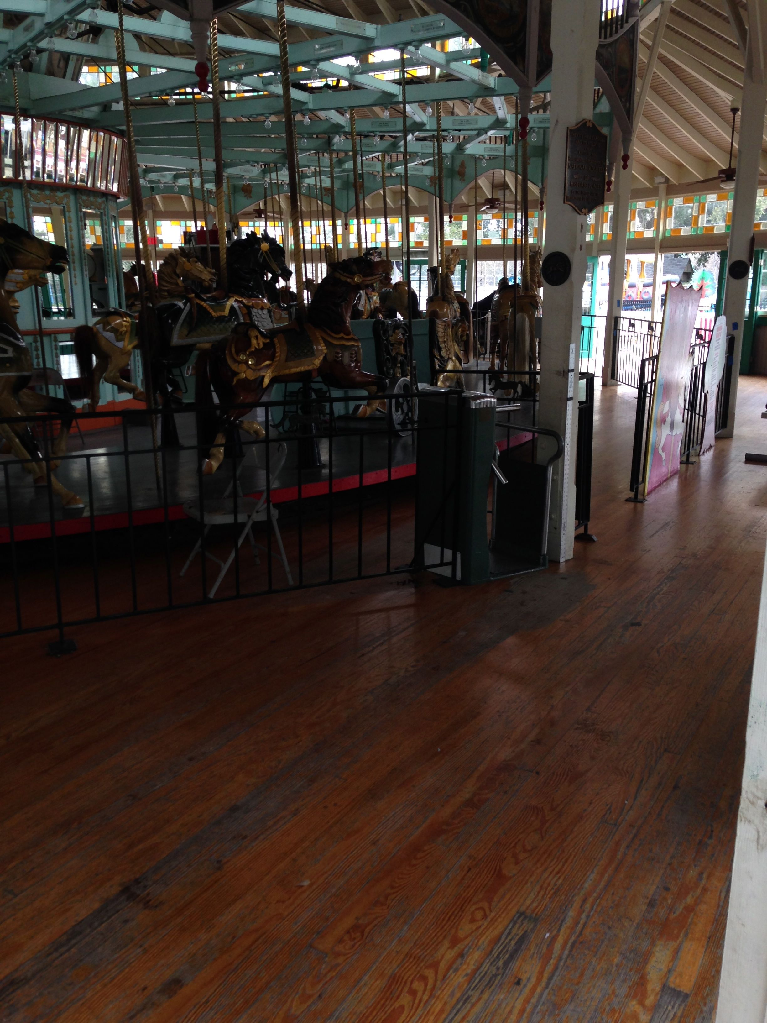city park, carousel, refinish hardwood, before, New Orleans, city park