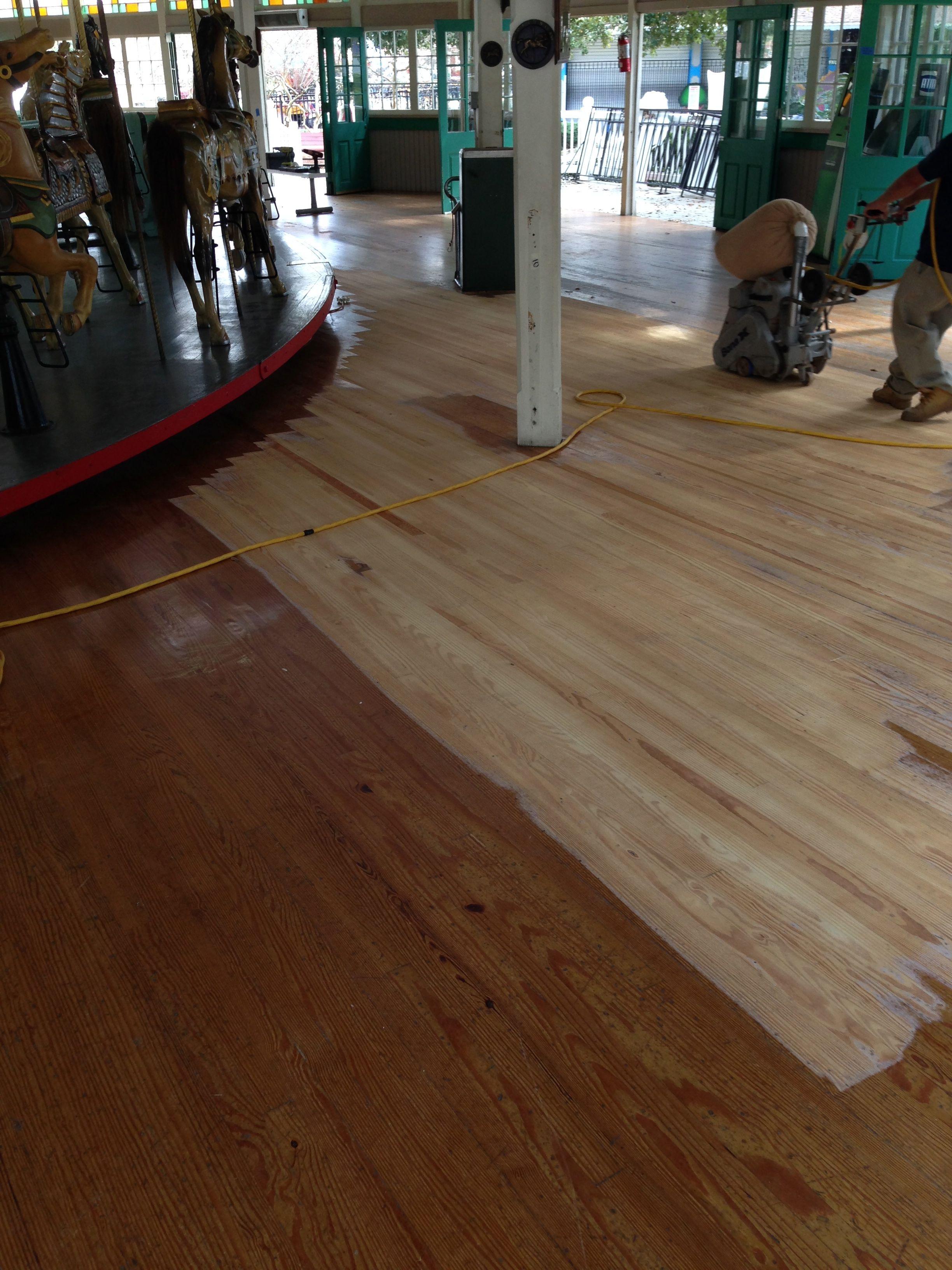 sanding, refinish, hardwood, New Orleans, city park, hardwood