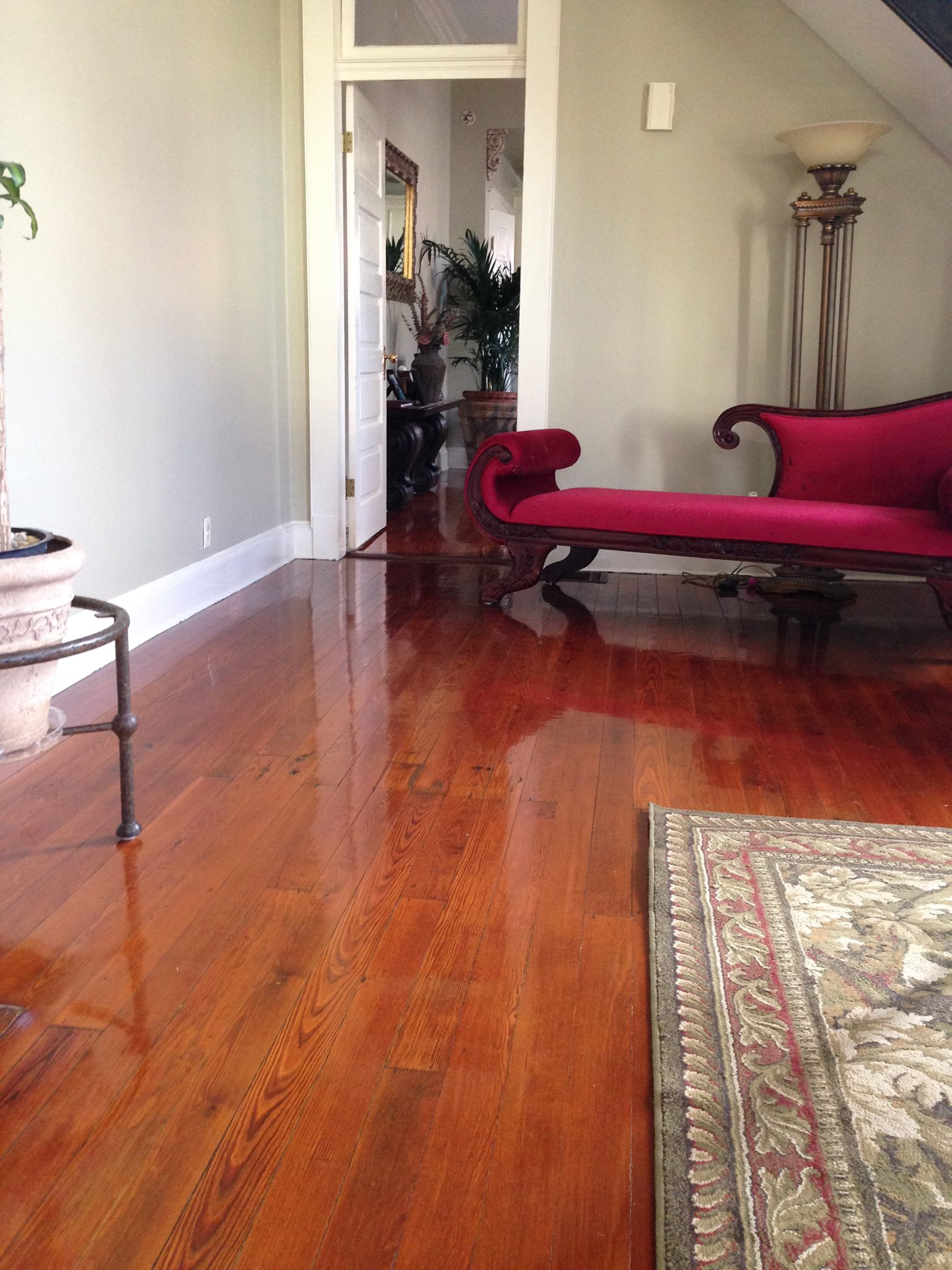 screened flooring, refinish, pine hardwood