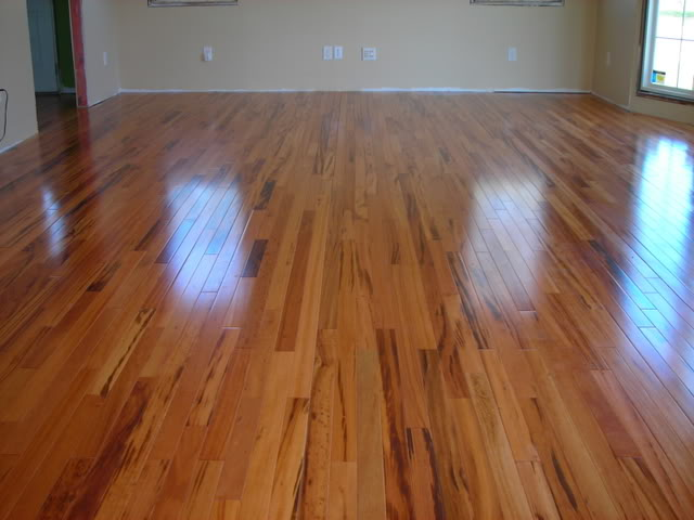 tiger wood, refinish, hardwood, semi-gloss