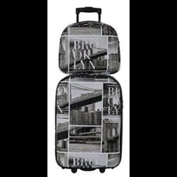 DAVID JONES Upright Carry-on Luggage Set