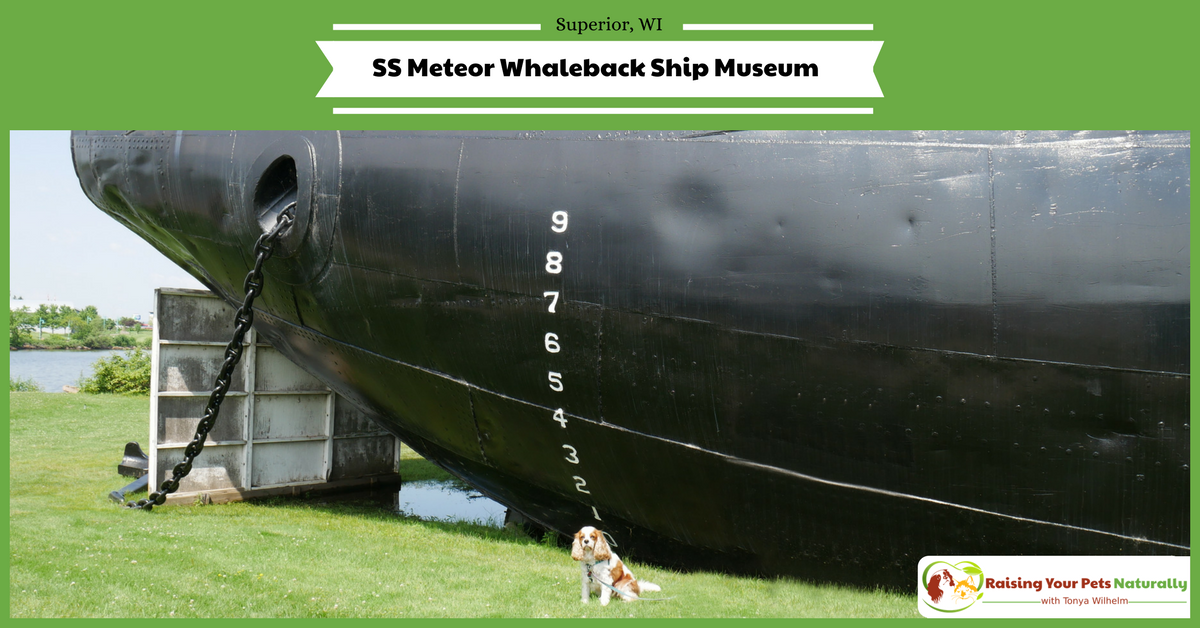 Dog-Friendly Superior, Wisconsin Attractions. Dog-Friendly SS Meteor Whaleback Ship Museum. #raisingyourpetsnaturally