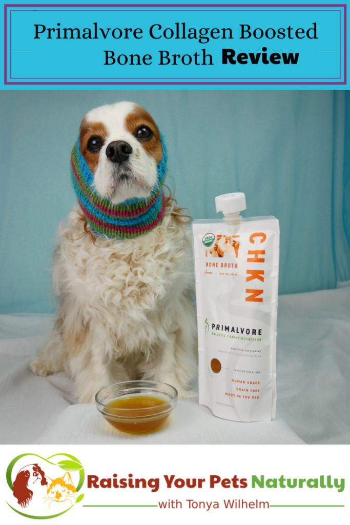 Health Benefits of Bone Broth for Dogs. Primalvore Collagen Boosted Bone Broth Review. #raisingyourpetsnaturally #bonebroth #bonebrothfordogs #benefitsofbonebroth #whatisbonebroth