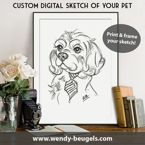 Win a custom sketch of your dog
