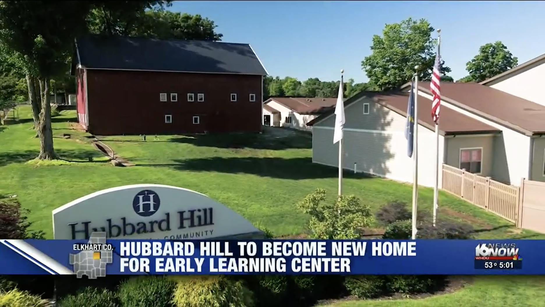 """Featured image for """"WNDU: Hubbard Hill to bring seniors & students together with addition of Early Learning Center"""""""