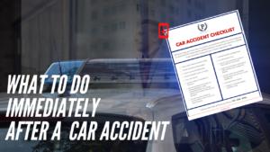 car accident checklist graphic