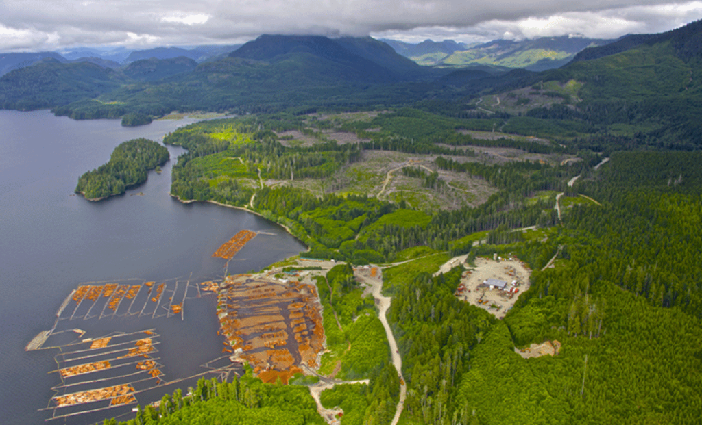 Proposed LNG facility site at Sarita Bay on Vancouver Island