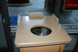 Commercial-Bakery-Trash Dispenser-Solid Surface-LOW