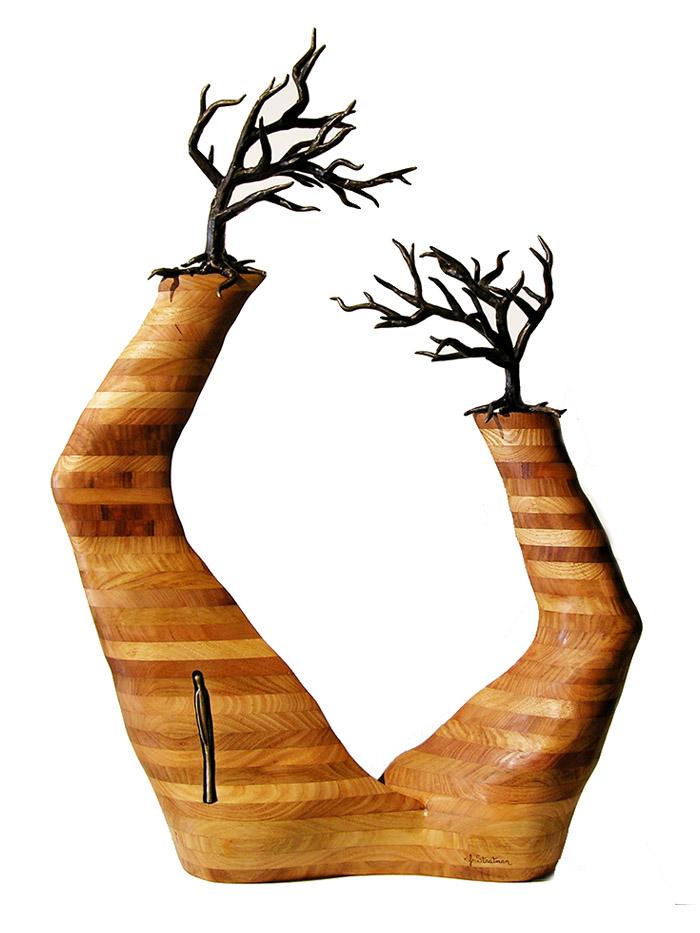 Jennyfer Stratman Wood Sculpture