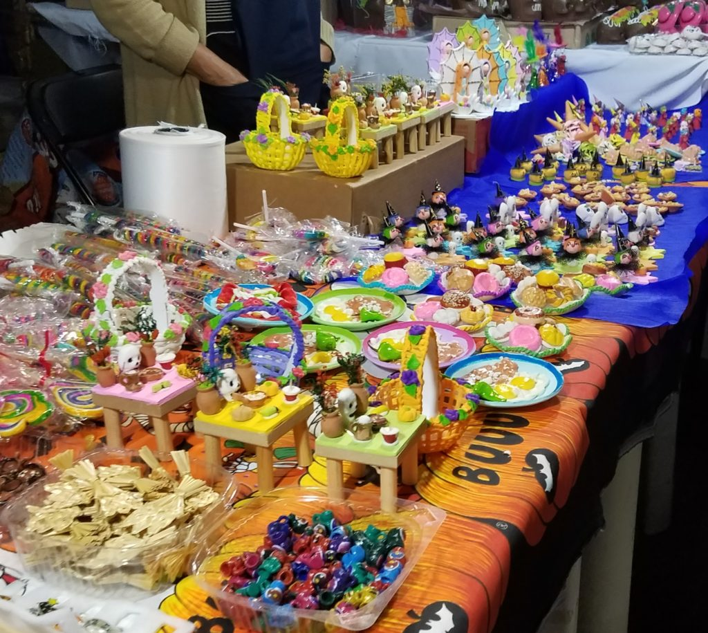 Candies for the kids during Dia de los Muertos