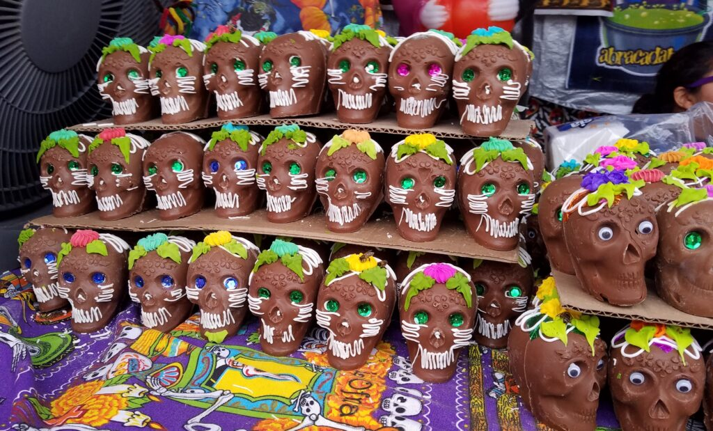 Chocolate Skulls for Day of the Dead