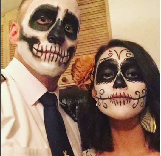 Face painting for Day of the Dead