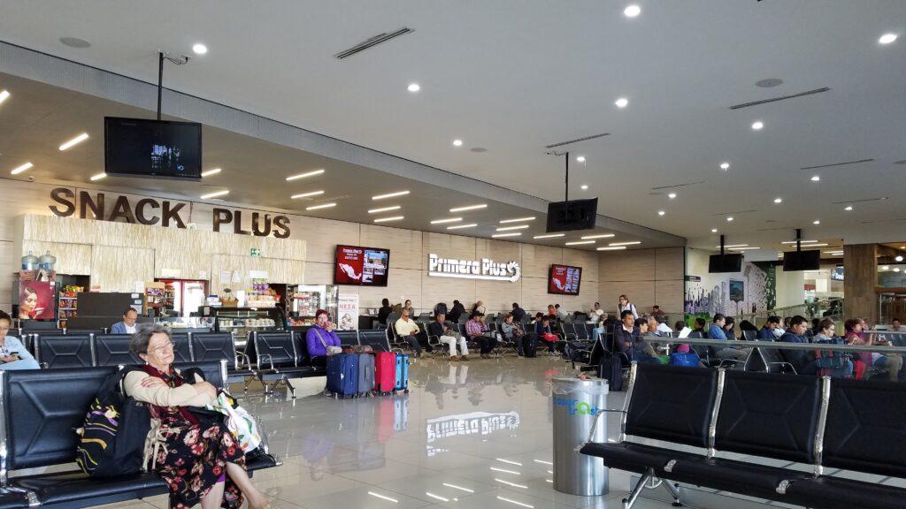 Queretaro's modern bus station lounge