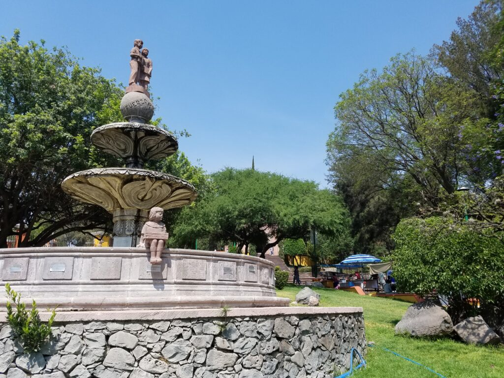 Childrens Fountain in Cerro de las Campanas, Queretaro, Mexico