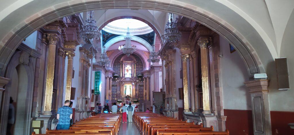 Interior of Templo de la Santa Cruz, Queretaro, Mexico