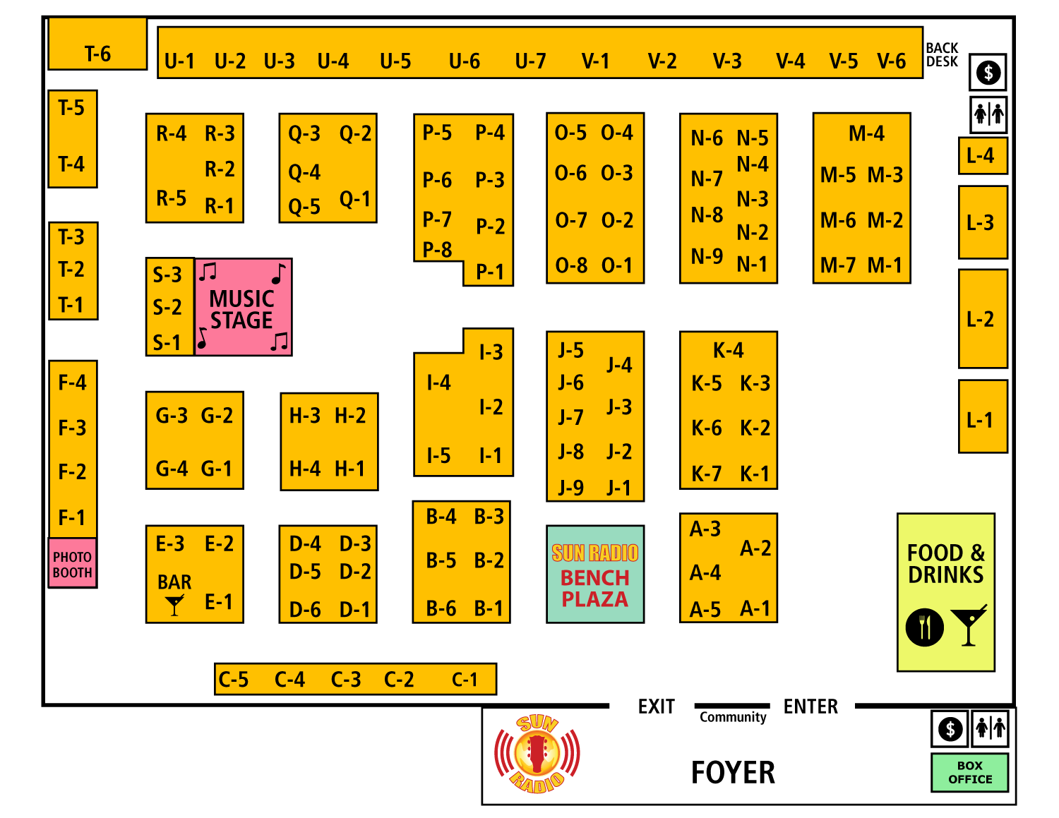 Armadillo 2017 Booth Map
