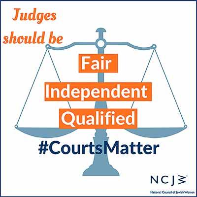 #CourtsMatter sign
