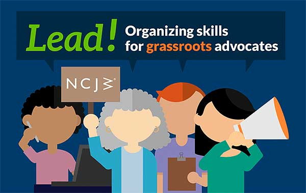 NCJW Lead, Organizing skills for grassroots advocates poster