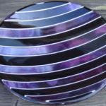 "Fused glass bowl 10"" dia."