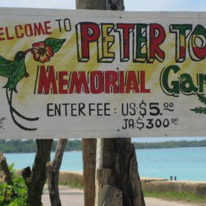 peter tosh memorial garden tour