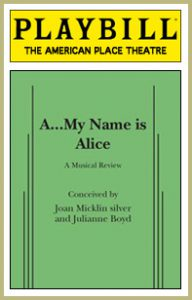 A My Name is Alice playbill