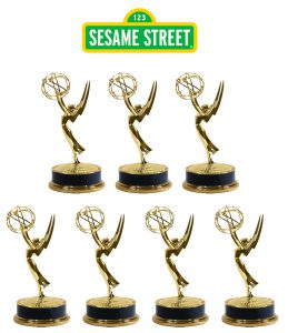 emmy statuettes for Sesame Street