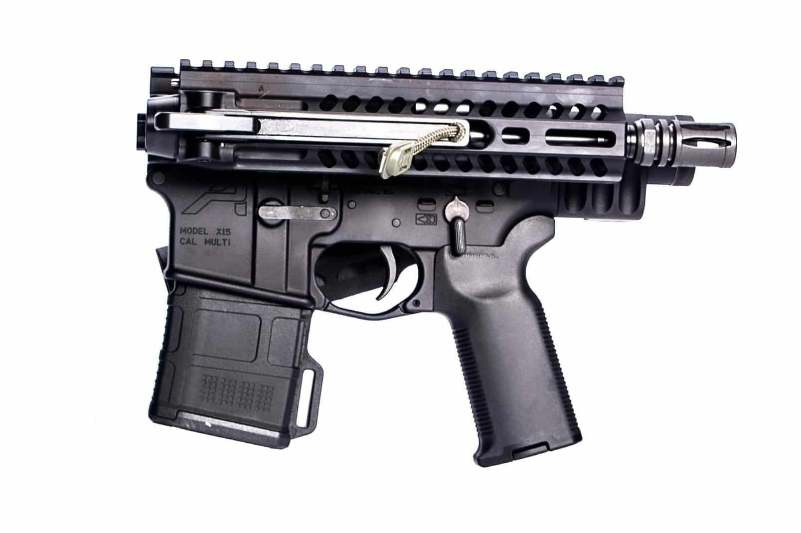 "FOLDAR FOLDING AR15 UPPER 9"" .223 WYLDE BARREL WITH FOLDAR PISTOL BRACE AND DEAD FOOT ARMS MCS SYSTEM"