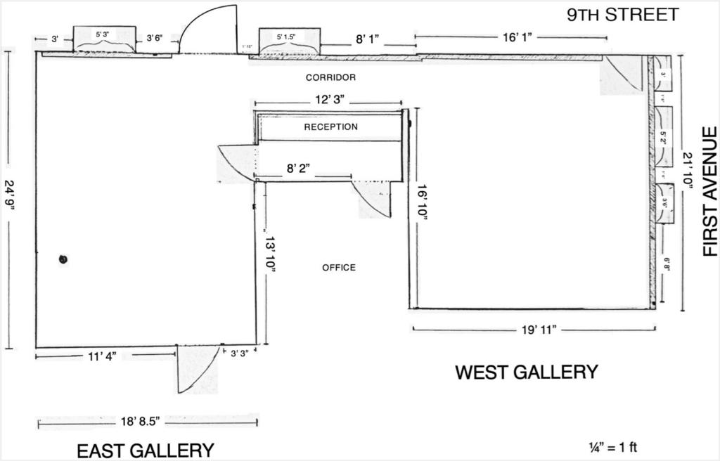 Floor plan of gallery ps122