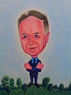 Gray – Portrait of Joe Franklin