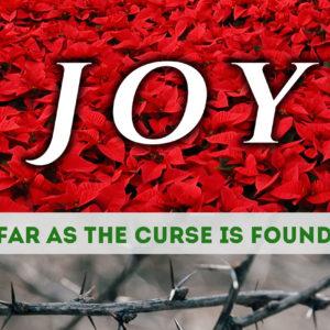 Joy…Far as the Curse Is Found – Final week