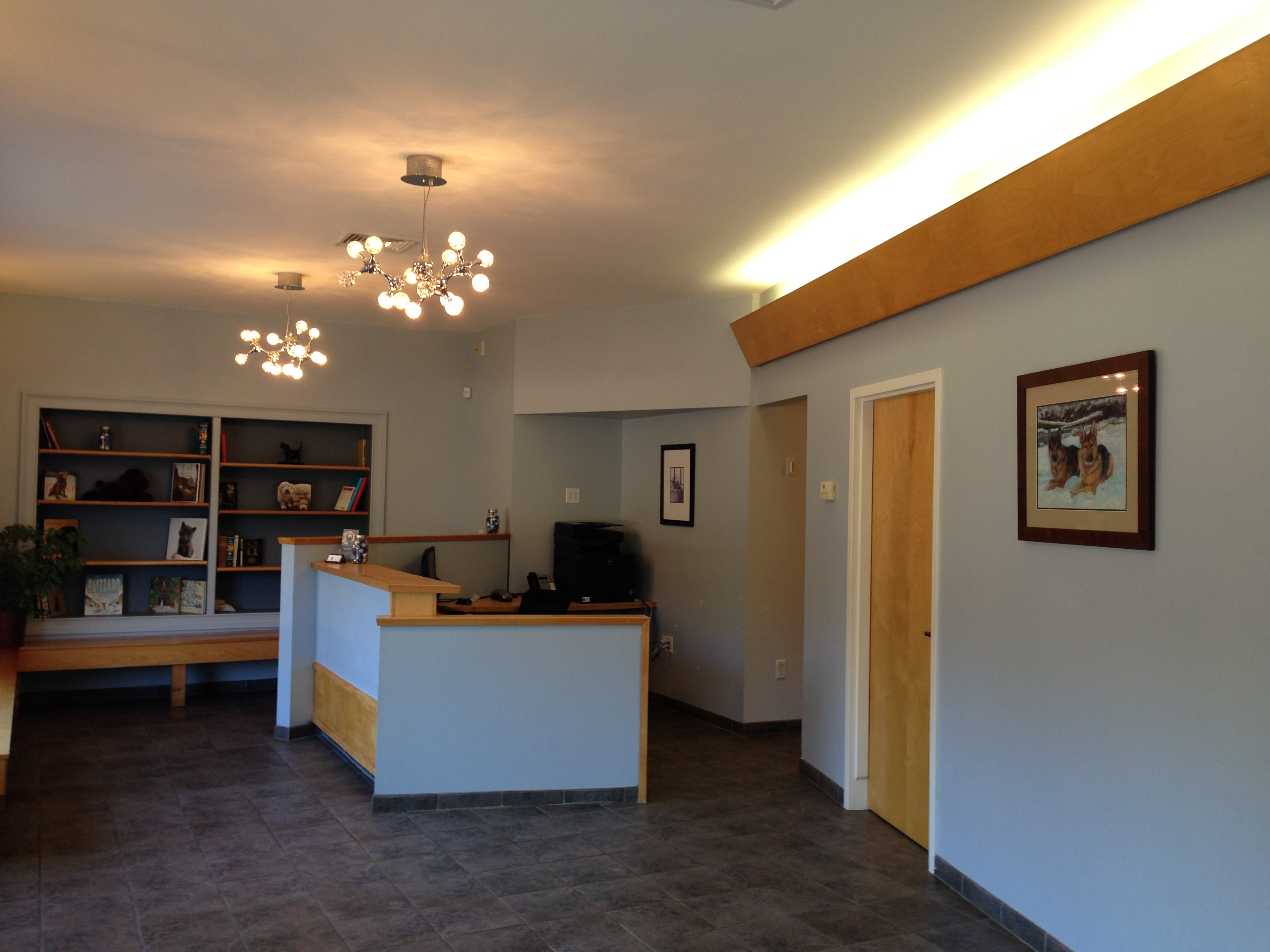 Avon Veterinary Emergency Referral entrance and waiting area